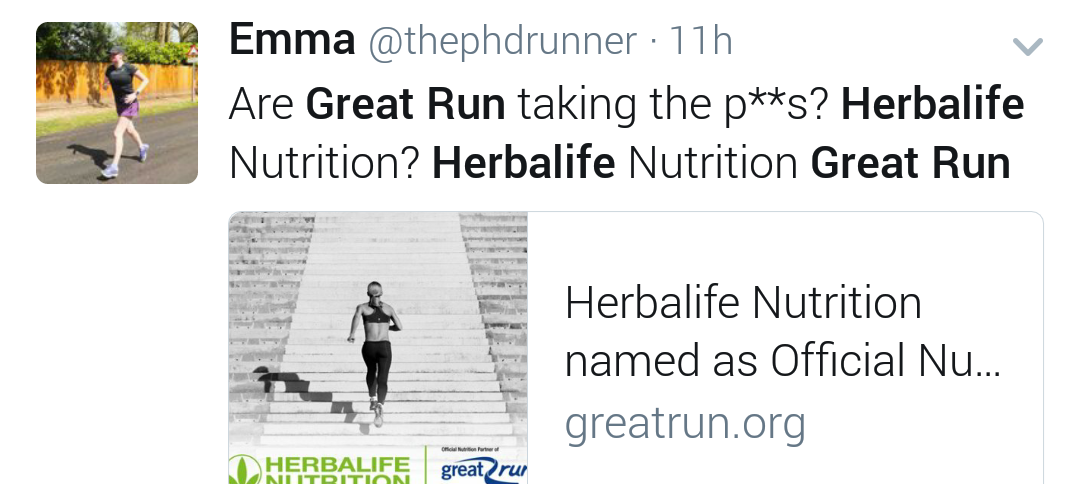end great run herbalife